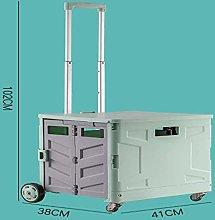 XBSXP Shopping Trolleys Portable shopping cart,