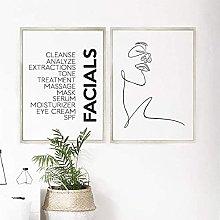 XCDFFJJ Canvas Print Facials Quotes Spa Beauty