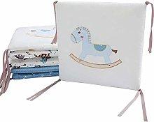 XCJJ 6PCS Baby Bed Crib Cot Bumper Pads Bedding
