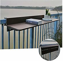 XCJJ Balcony Hanging Folding Table, Outdoor Dining