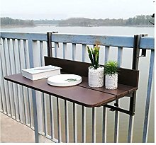XCJJ Balcony Railing Hanging Table, Outdoor