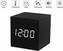 XCJJ Digital Alarm Clock Wooden Alarm Clock