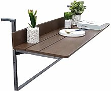 XCJJ Folding Balcony Hanging Table Laptop Table