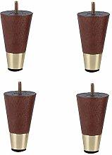 XCJJ Furniture Foot Oak Walnut Color Cabinet Legs