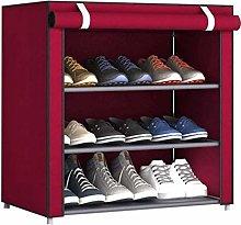 XCJJ Shoe Rack Non-Woven Cover Shoe Cabinet