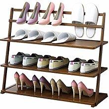 XCJJ Shoe Racks Bamboo Multi-Layer Shoe Shelf