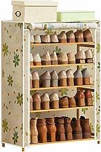 XCJJ Shoe Racks Five-Story Shoe Rack Shoe Storage