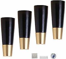 XCJJ Solid Wood Furniture Feet/Conical Sofa Legs,