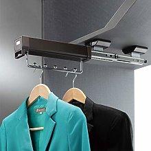 XCJJ Wardrobe Clothes Rail Double Slide Rail