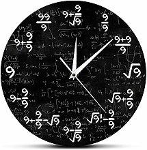 XCJX 12 inch frameless Nice Math Wall Clock No. 9