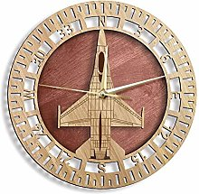 XCJX (12 inches) Fighting F wooden wall clock