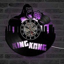 XCJX 7 colors CD Record Wall Clock King Kong Film
