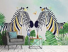 Xcmb 3D Butterfly Zebra Forest 22 Wall Paper Mural