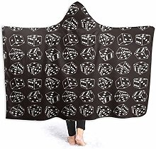 XCNGG Black and White Dice Roller Hoodie Wearable