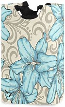 XCNGG Blue Lily Laundry Basket Washing Clothes