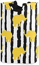 XCNGG Collapsible Laundry Basket Elephant Stripe
