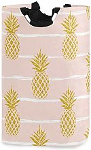 XCNGG Collapsible Laundry Basket Golden Pineapple