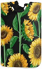 XCNGG Collapsible Laundry Basket Sunflower Pattern