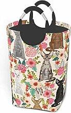 XCNGG Large Sized Foldable Laundry Hamper Bucket