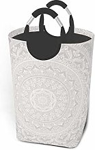 XCNGG Laundry Hamper Storage Bin Mandala Soft Gray