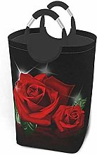 XCNGG Red Roses Laundry Basket Washing Clothes