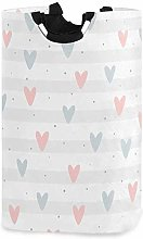 XCNGG Repeated Hearts Laundry Basket Washing