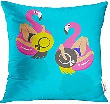 XCNGG Throw Pillow Cover Blue Abstract Girls on