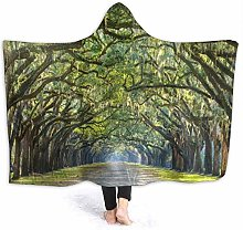 XCNGG Tree Covered Forest Hoodie Wearable Blanket