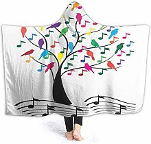 XCNGG Tree with Notes Hoodie Wearable Blanket