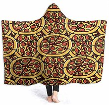 XCNGG Trendy Pizza Pattern Hand Drawn Hoodie