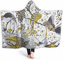 XCNGG Tropical Birds Hoodie Wearable Blanket