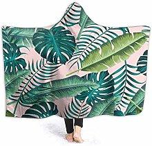 XCNGG Tropical Leaves Pattern Hoodie Wearable