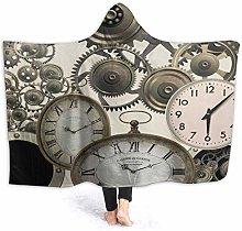 XCNGG Vintage Steampunk Clocks Hoodie Wearable