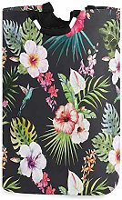 XCNGG Watercolor Tropical Floral Laundry Basket