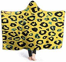 XCNGG Watercolor Yellow Leopard Hoodie Wearable