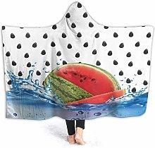 XCNGG Watermelon Dots Hoodie Wearable Blanket