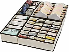 XCOZU Drawer Organisers Dividers, 4 Packs Foldable