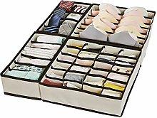 XCOZU Drawer Organisers Dividers, 4 Packs Foldable