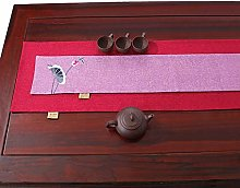 XCSLH Table Runners,2 Pcs Chinese Style Lotus