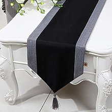 XCSLH Table Runners,Black Chinese Style Cotton