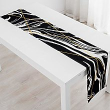 XCSLH Table Runners,Black Gold Pattern Table