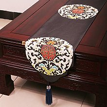 XCSLH Table Runners,Black Vintage Chinese Style