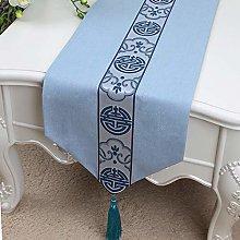 XCSLH Table Runners,Blue Vintage Cotton Linen