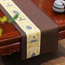 XCSLH Table Runners,Brown Chinese Style Vintage