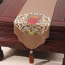 XCSLH Table Runners,Brown Vintage Chinese Style
