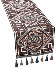 XCSLH Table Runners,Brown Vintage Ethnic Style