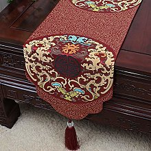 XCSLH Table Runners,Burgundy Vintage Chinese Style