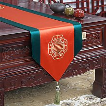 XCSLH Table Runners,Chinese Classic Orange Brocade