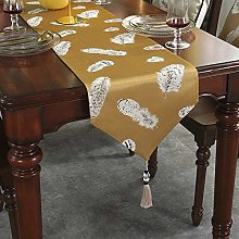 XCSLH Table Runners,Chinese Style Feather Printed