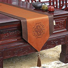 XCSLH Table Runners,Chinese Style Orange Cotton